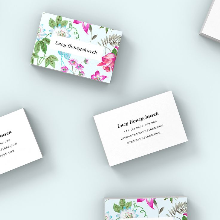 Honeychurch – one of our Print business card templates available to customise and order on our site.