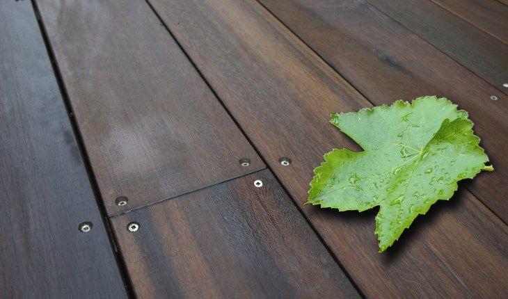 Greenheart Decking Machinecoated in Wood-X Clear Base
