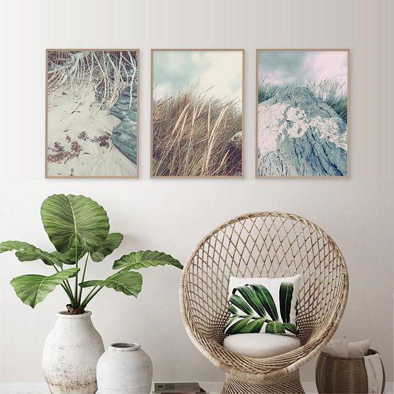 Downloadable Set Of 3 Coastal Prints Printable Ocean Beach Etsy Boho Beach House Beach House Interior Coastal Decor