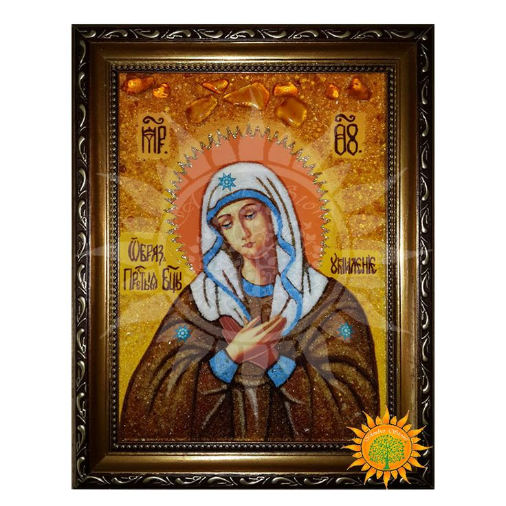 Икона Умиление Божьей Матери из янтаря - Amber stone