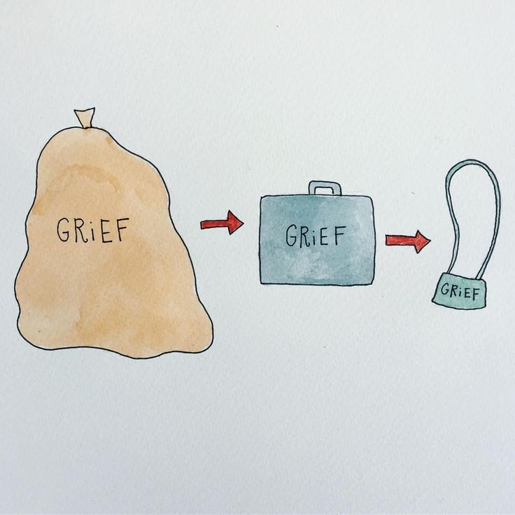 These Illustrations Totally Nail How Difficult The Grief Process Is   The Huffington Post