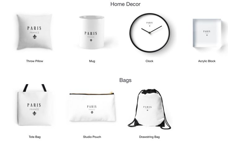 Paris!- Home Decor, Bags, T-shirts and more. Available on Redbubble now.