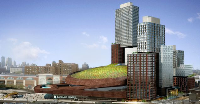 4.7.14 - The Barclays Center's New Green Roof Will Muffle the Rave Noises