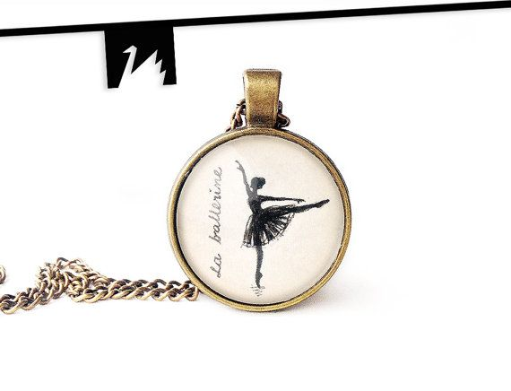 Ballerina Pendant Necklace Ballet Dancer Dance Ballerina