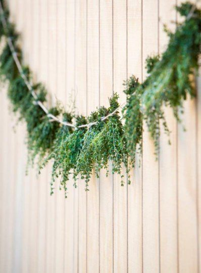 drying herbs garlands