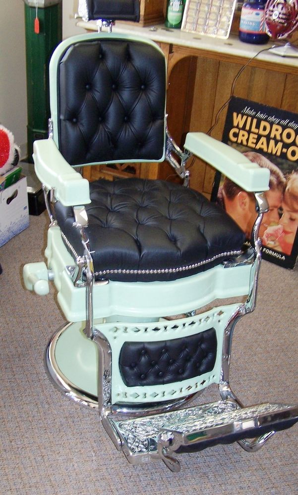 1920's koken barber chair restored custom flip step morrison | tonsorial  art | Pinterest | Barber chair, Barber and Chair - 1920's Koken Barber Chair Restored Custom Flip Step Morrison