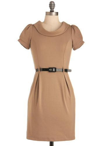 Jill of All Trades Dress in Founder, $49.99 from #ModCloth, #Office