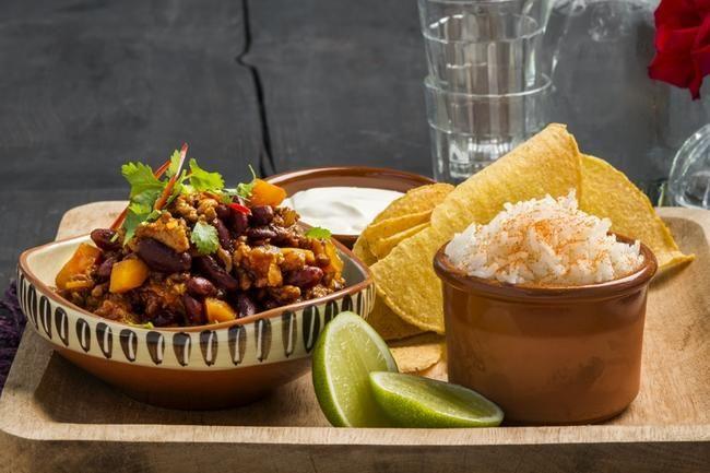 Chili con carne Tacos - glutenfri!