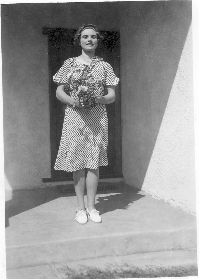 The young Patricia Mathews.