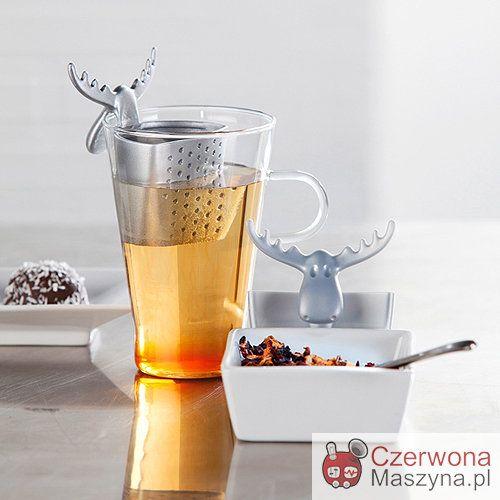 Zaparzacz do herbaty Koziol Rudolf srebrny - CzerwonaMaszyna.pl
