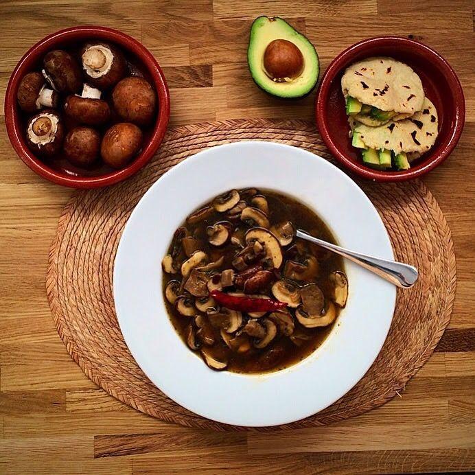 Sopa de Mexicana de Hongos (Mexican Mushroom Soup) | Mexican Food Memories