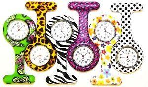 a nueva moda patrones silicio broche tunica reloj de enfermera fob 1 baterias gratis