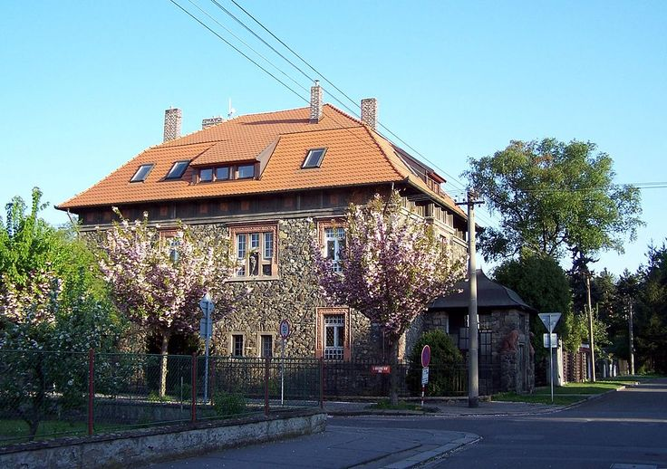 Stone villa -Pardubice; German: Pardubitz is a city in the Czech Republic. It is the capital city of the Pardubice Region and lies on the river Elbe, 96 kilometres east of Prague. There is an old Tower and a Castle. The oldest extant Document regarding Pardubice comes from 1295.