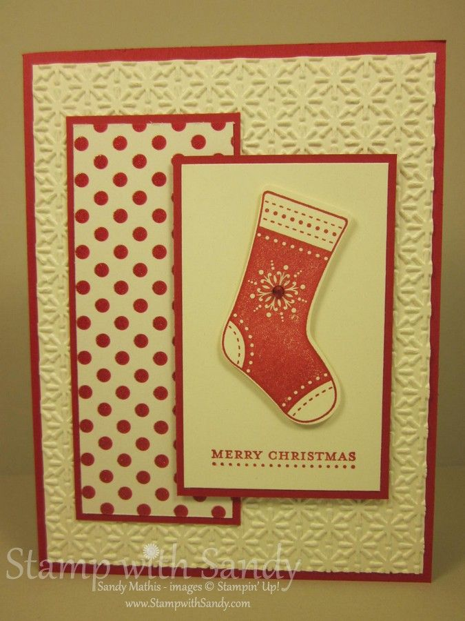 Happy Monday, Stampers! I have a card (actually, two) to share with you today using the Stocking Builder Punch. Sadly, Stampin' Up! has inf...