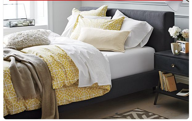 Crate And Barrel Bed And Bedding