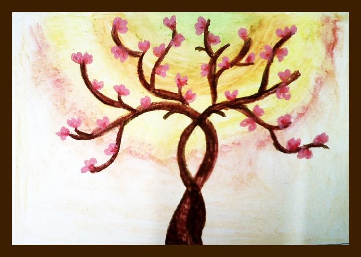 Cherry Blossom (oil pastels) - 2012