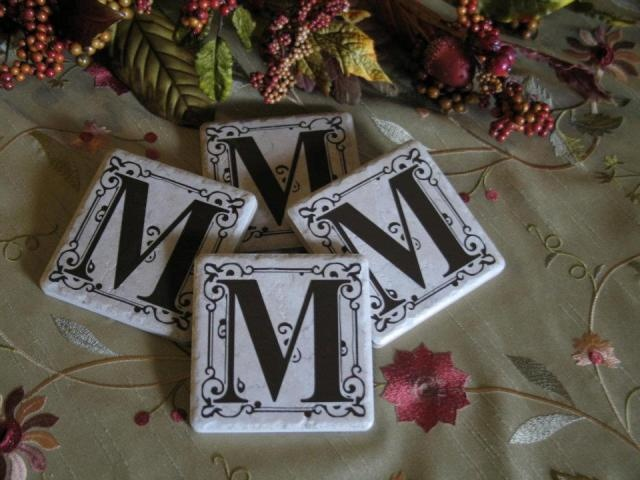Personalized Tile Coasters 4x4 Silhouette Cameo Ideas