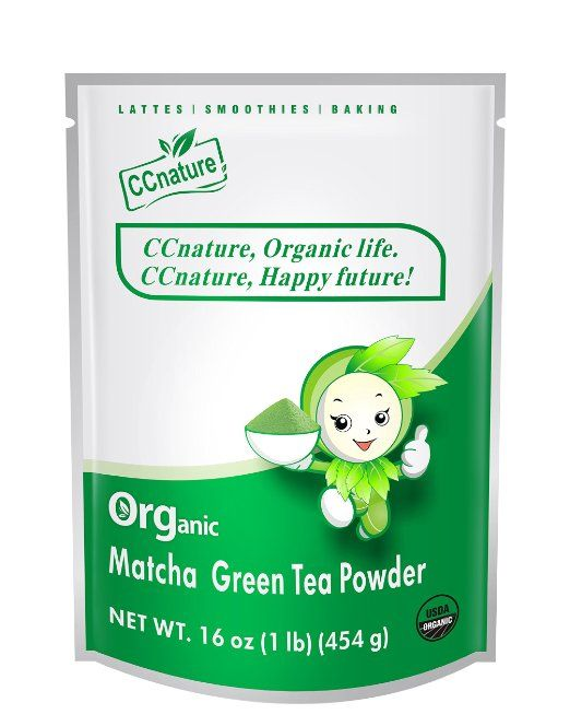 CCnature Organic Matcha Green Tea Powder 1lb.