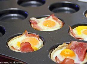 Las recetas de Masero.: Tartaletas de pan de molde con beicon y huevo