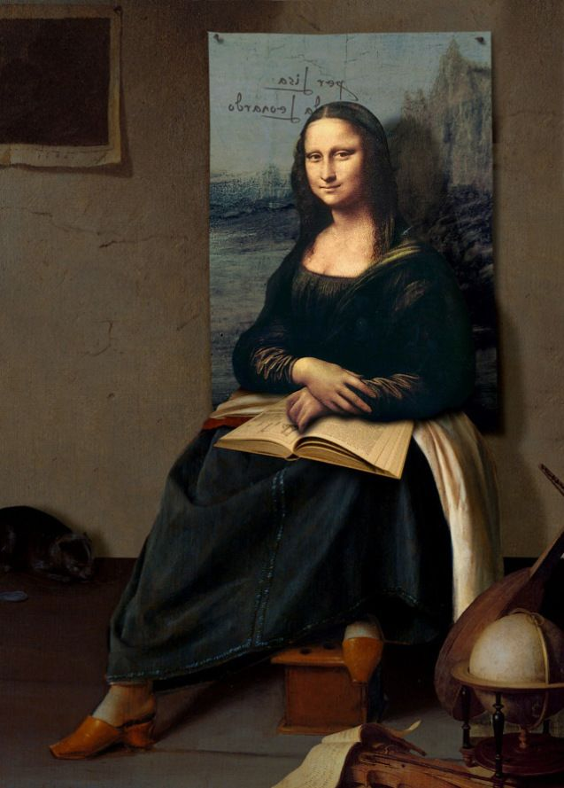 0316 [Daniel Lienhard] The shoes of Mona Lisa-this could inspire a great ART I project-The rest of the picture.