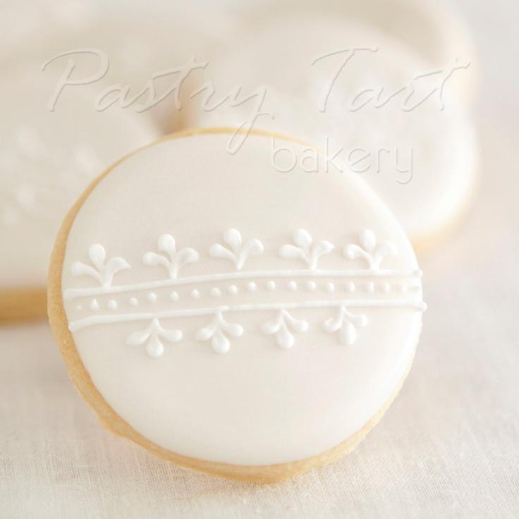 White on White Vintage Lace Wedding Cookie Favors // 1 doz. // Wedding Bridal Shower Vintage Spring. $25.50, via Etsy.