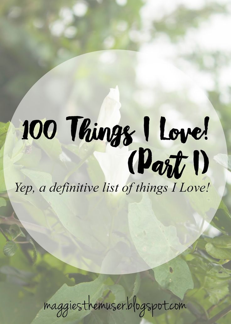 A mega list post, all about looking on the brighter side of things :)