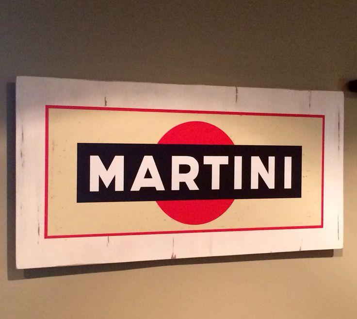Large Martini Logo Bar sign! Made by Backwoods Boutique.