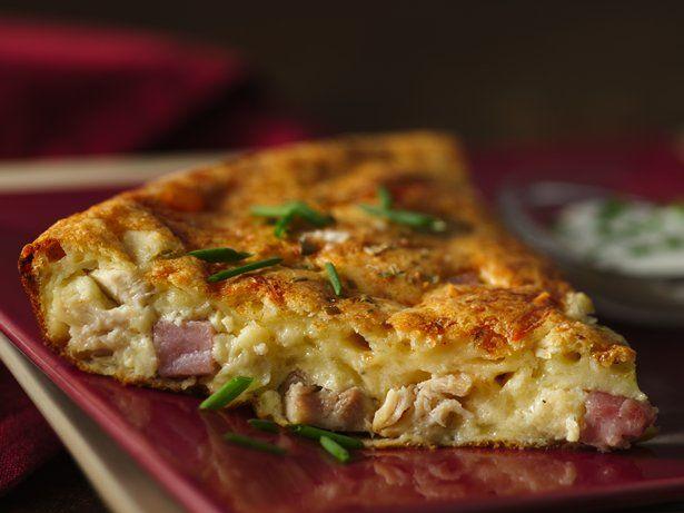 Chicken Cordon Bleu Impossibly Easy Pie