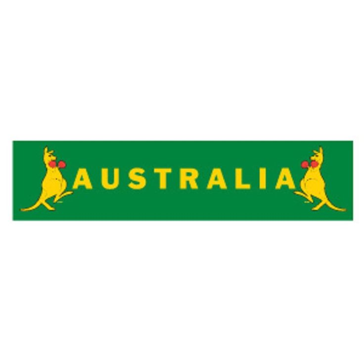 Australian Boxing Kangaroo Banner One Side Printed - approx 20cm x 84cm
