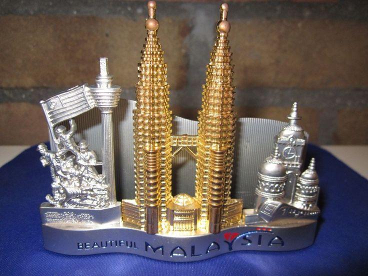 Malaysia Petronas Towers Souvenir Metal Building Figural Business Card Holder