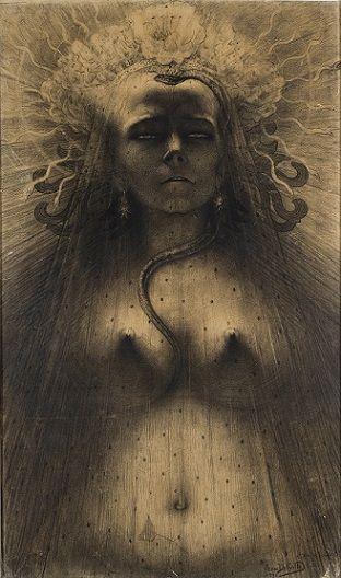 Jean Delville (1867-1953), L'Idole de la perversité, 1891