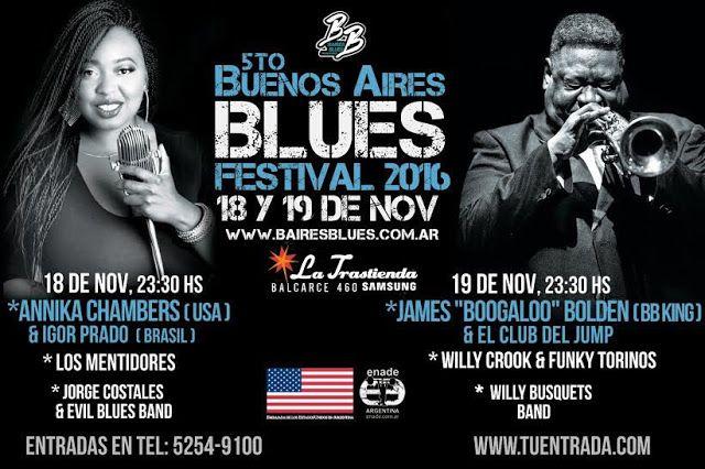 5to Buenos Aires Blues Festival en La Trastienda   Este 5to Festival de Blues contará en sus diferentes jornadas con renombrados artistas nacionales e internacionales renovando su apuesta al género musical y promete una vez más deleitar no solo a los fanáticos del Blues sino también a todos los amantes de la buena música. Un festival que llegó para quedarse y disfrutarlo todos los años y que confirma a la Ciudad de Buenos Aires como una plaza destacada e importante en la escena del Blues en…