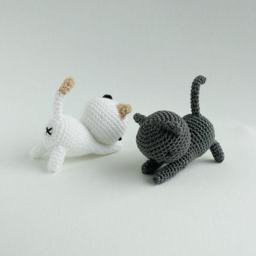 схема вязания кота амигуруми Neko Atsume крючком