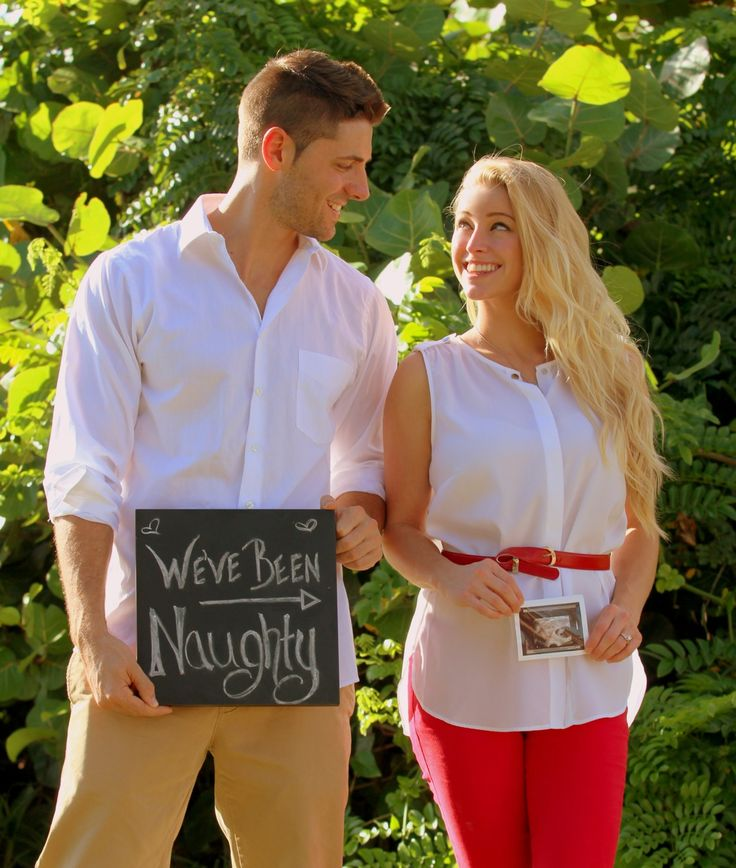 Our pregnancy announcement! Baby Russell, due April 2014!