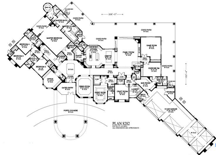 mediterranean house plan 54722 - Cylinder Home Floor Plans