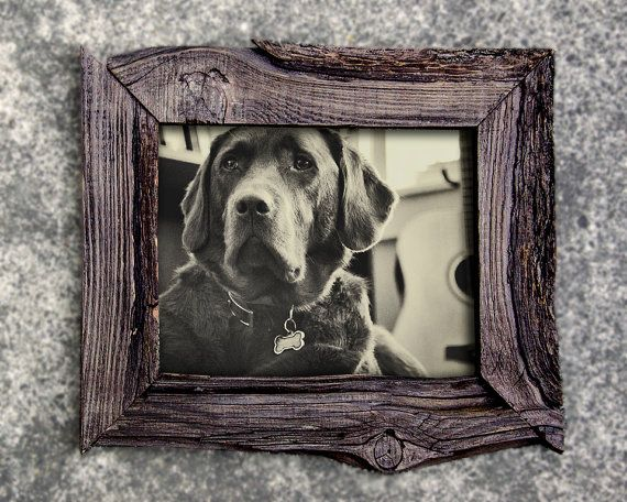 Recycled Wood 8x10 Picture Frame by SaphariRusticFrames on Etsy, $59.00