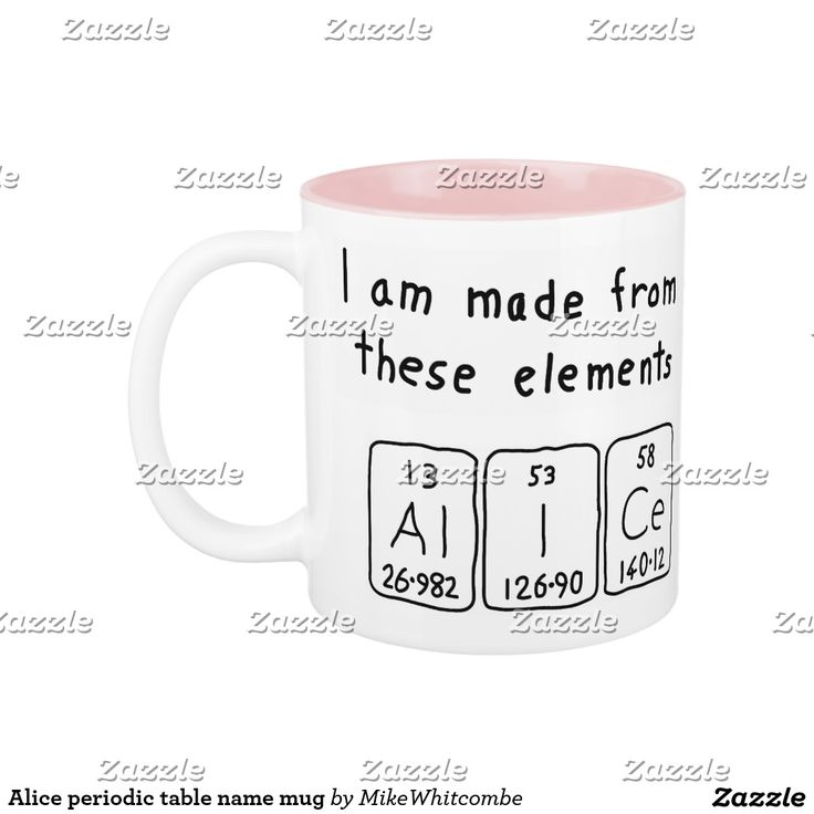 44 best periodic name images on pinterest periodic table alice periodic table name mug urtaz Gallery