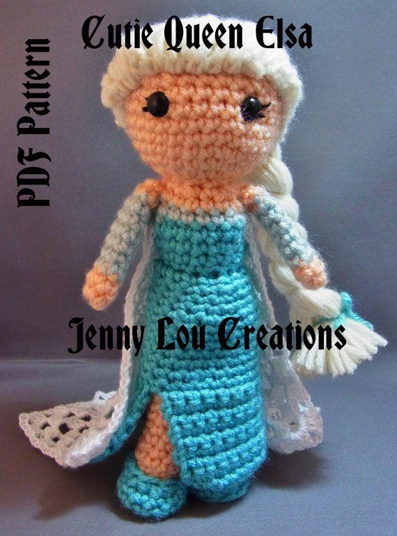 PDF Pattern Cutie Queen Elsa Inspired by Frozen Crochet Amigurumi Doll