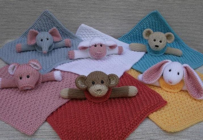 (6) Name: 'Knitting : Mini Lovey Blankie Menagerie