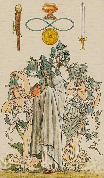 I. The Magician - Harmonious Tarot by Walter Crane, Ernest Fitzpatrick                                                                                                                                                     More