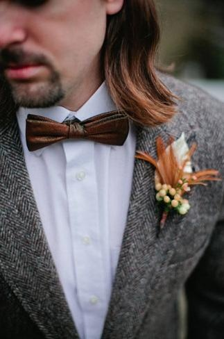 Brown Wedding Inspiration |  Bow Tie