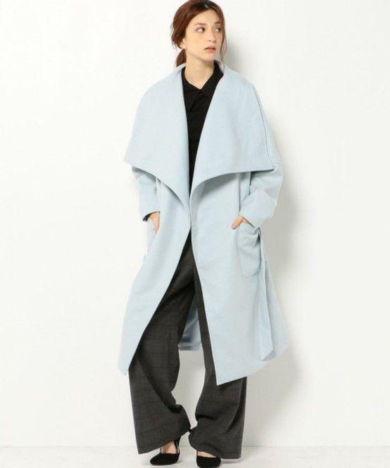 パステル系で女性らしく。秋冬のファッションアイテム おしゃれガウンコート コーデを集めました♪