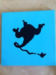69 best images about disney painting ideas on pinterest for Aladdin and jasmine on carpet silhouette