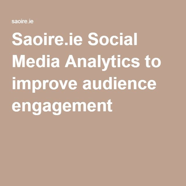 Saoire.ie Social Media Analytics to improve audience engagement