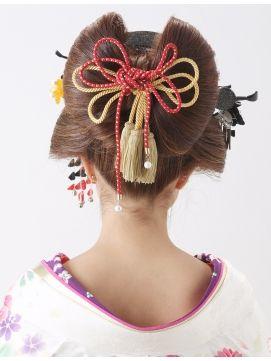 【花魁ヘア】前髪をクールに決めた日本髪¥5400