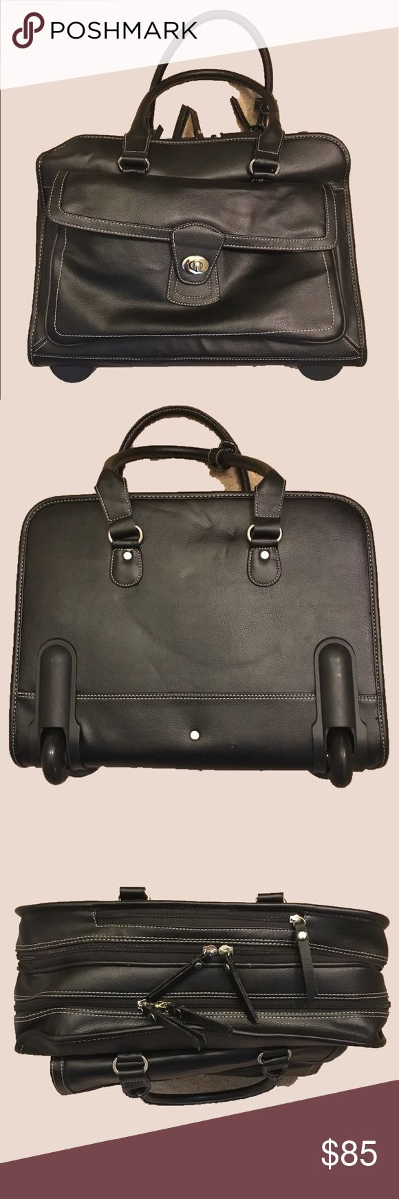 Laptop bags office depot - Samsonite Rolling Briefcase Brand New