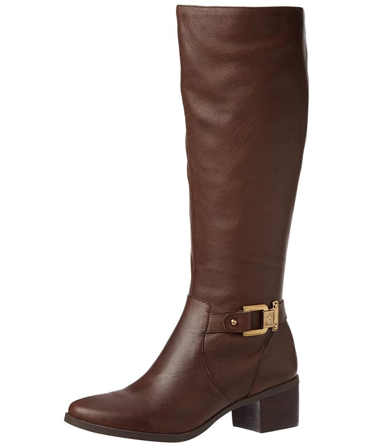 Anne Klein Ak Anne Klein Women's Joetta Leather Riding Boot