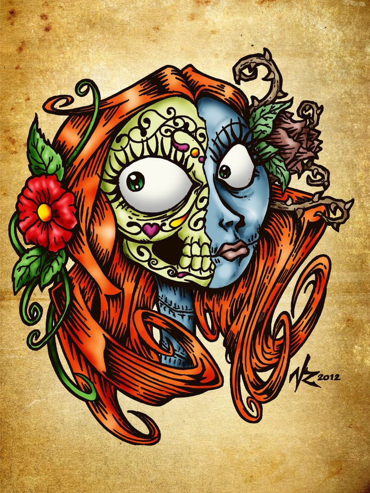 Amazing tattoo design - sugar skull lady with rose in her hair, praying with a snake around her. Description from pinterest.com. I searched for this on bing.com/images