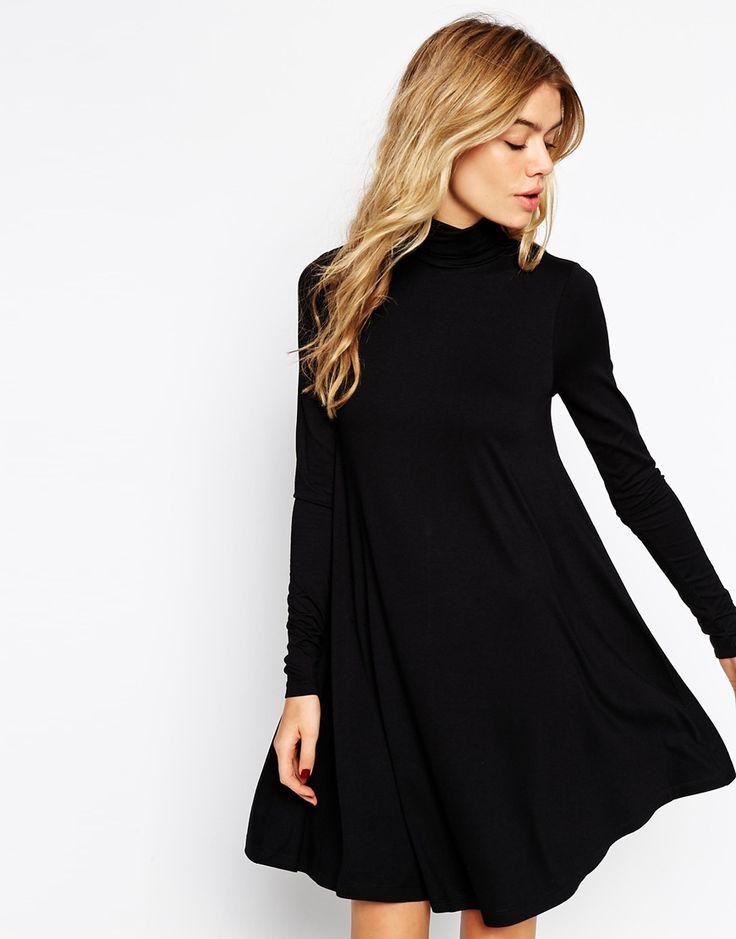 Long Sleeve Turtleneck Dress Asos