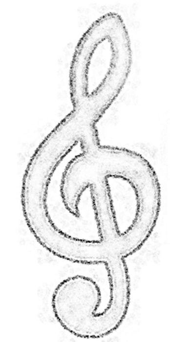 Os símbolos musicais ficam muito fofos em várias cores, mas o charme está mesmo na sua cor convencional: o preto.